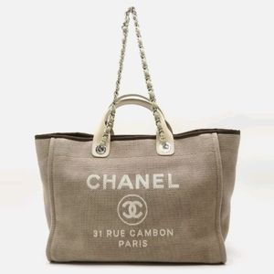 Chanel Deauville GM Brown
